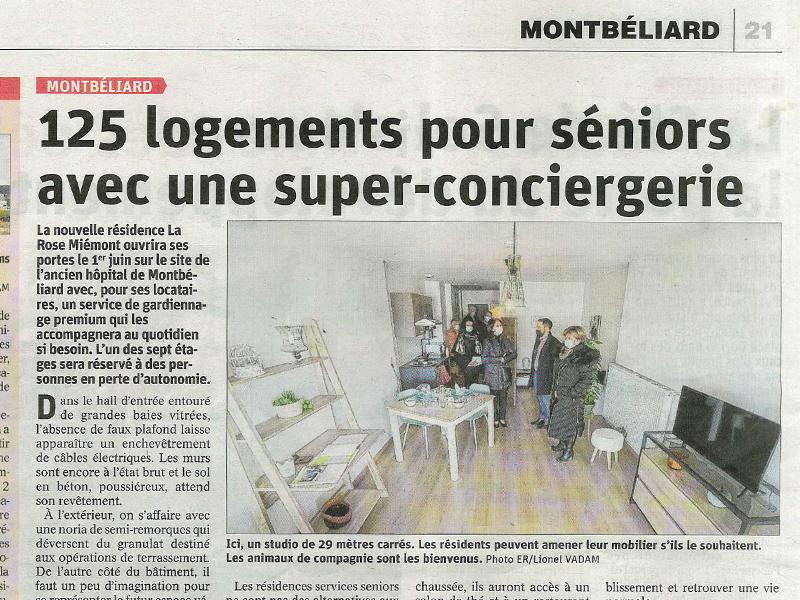 Résidence services séniors La Rose Miémont - Montbéliard